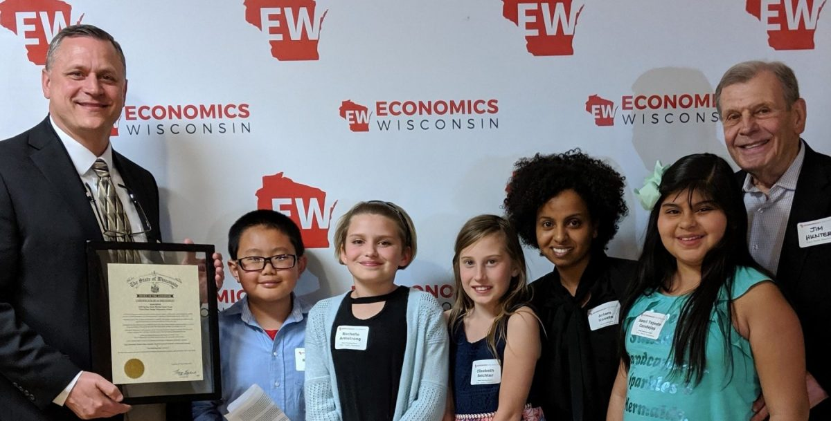 Stock Market Game winners from Badger Elementary
