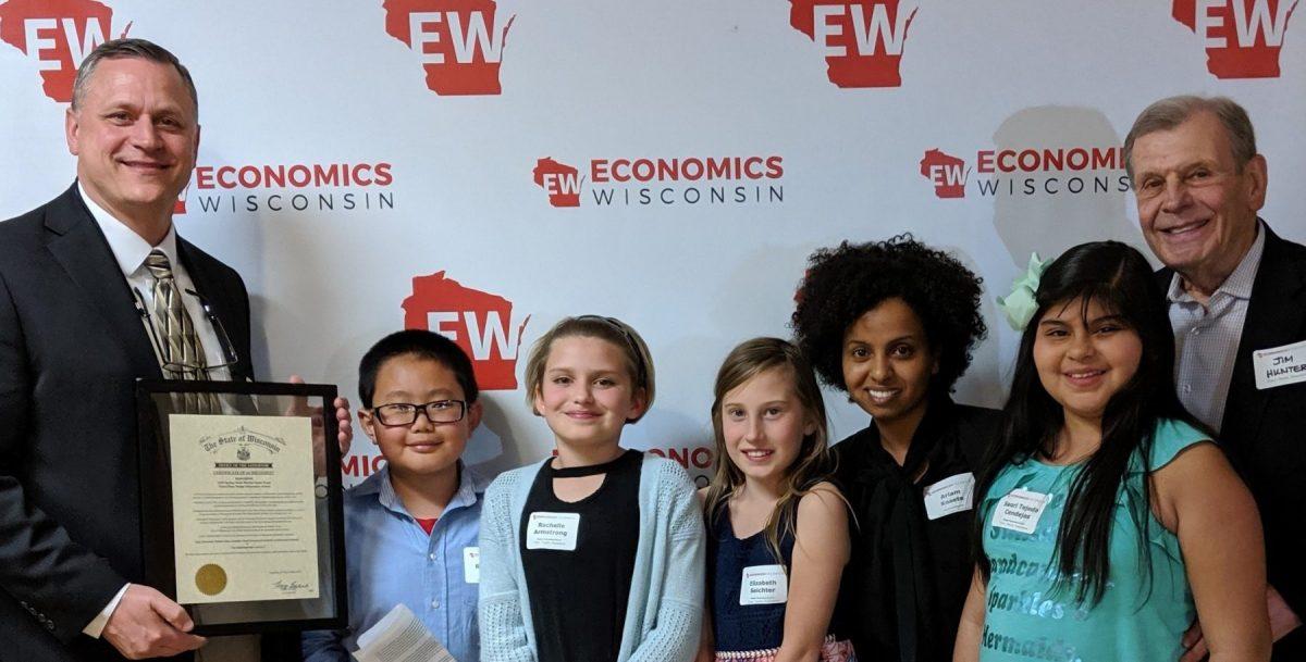 Stock Market Game winners from Badger Elementary